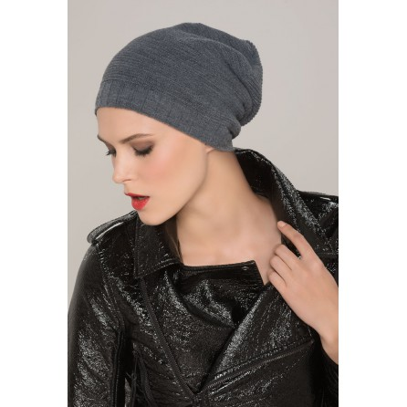 bonnet - collection Latifa : BEANIE - GREY