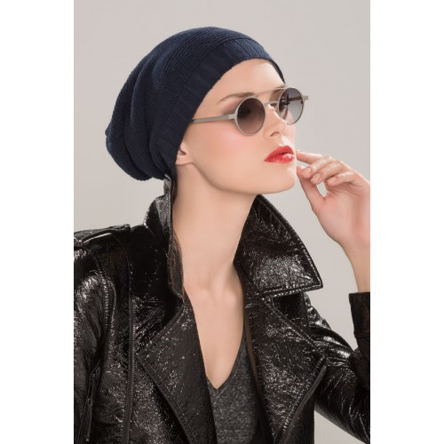 bonnet - collection Latifa : BEANIE - MARINE